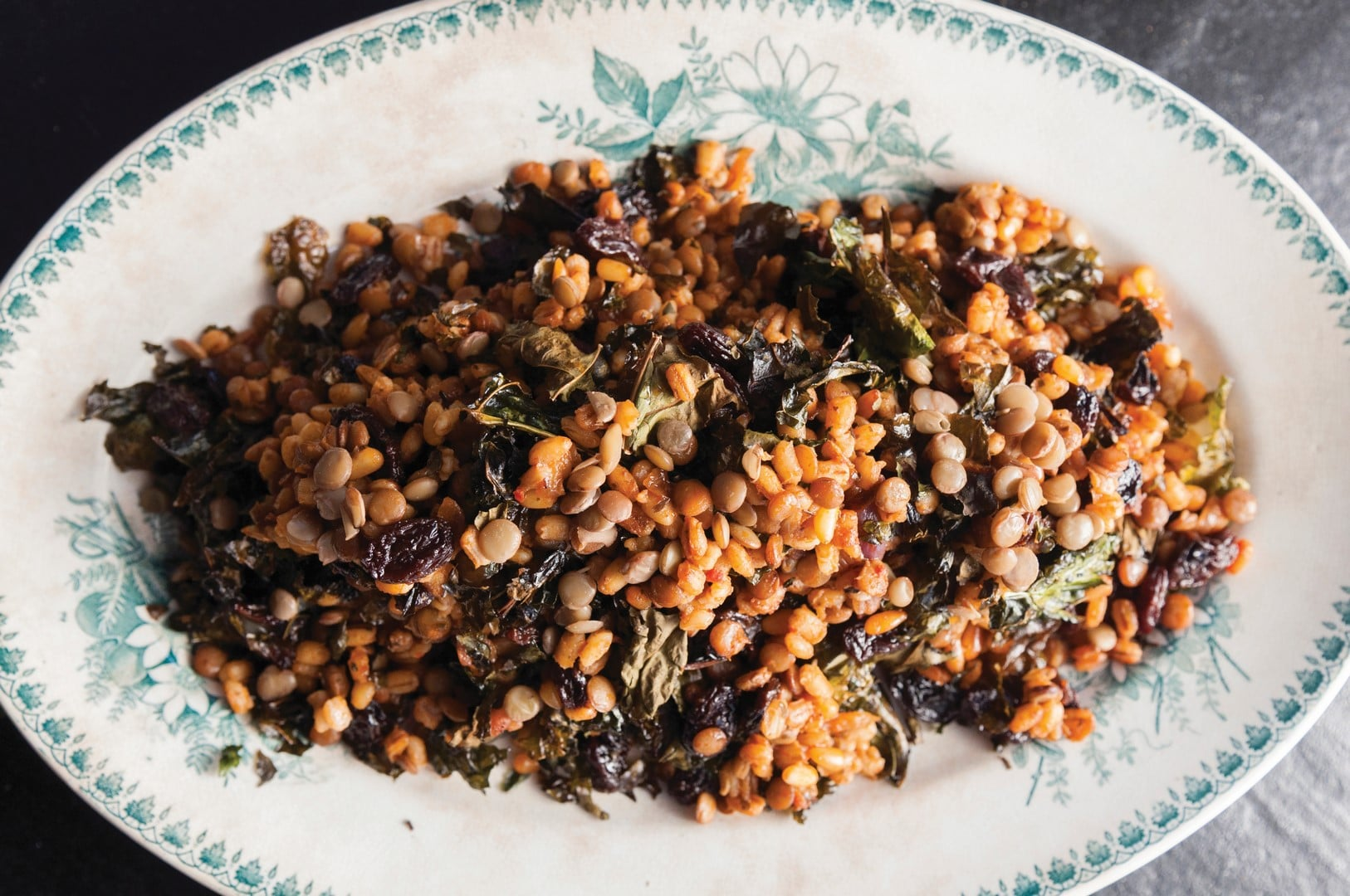 Barley with a middle eastern twist.