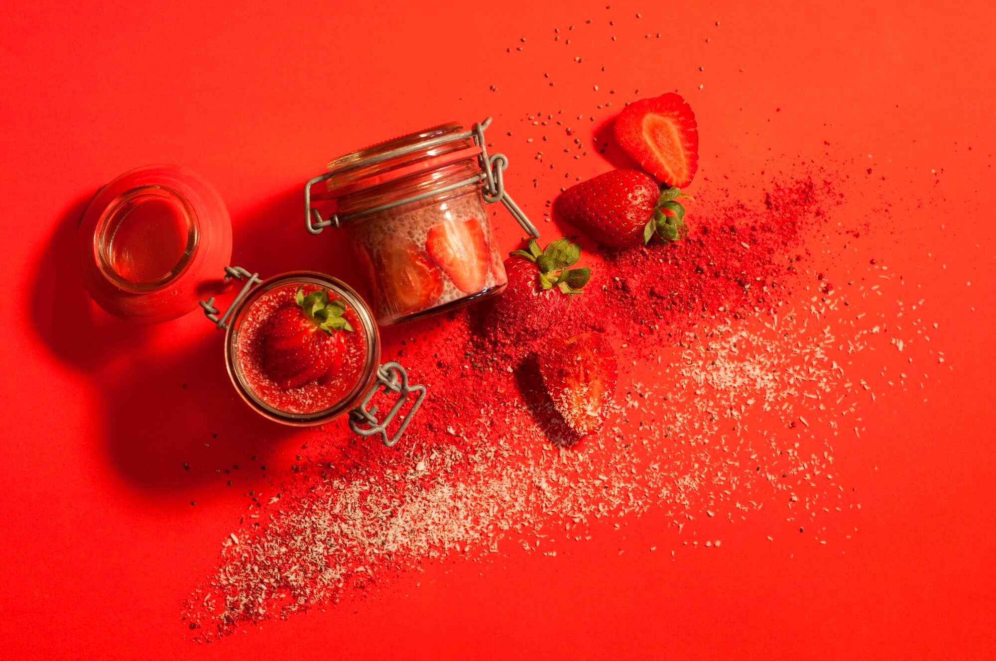 Strawberry Coconut Chia Pudding