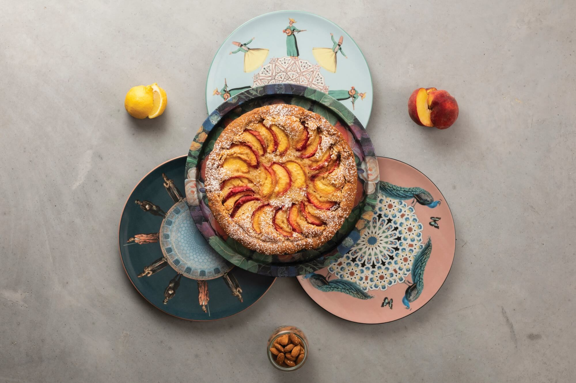 Frangipane Tart with Peaches