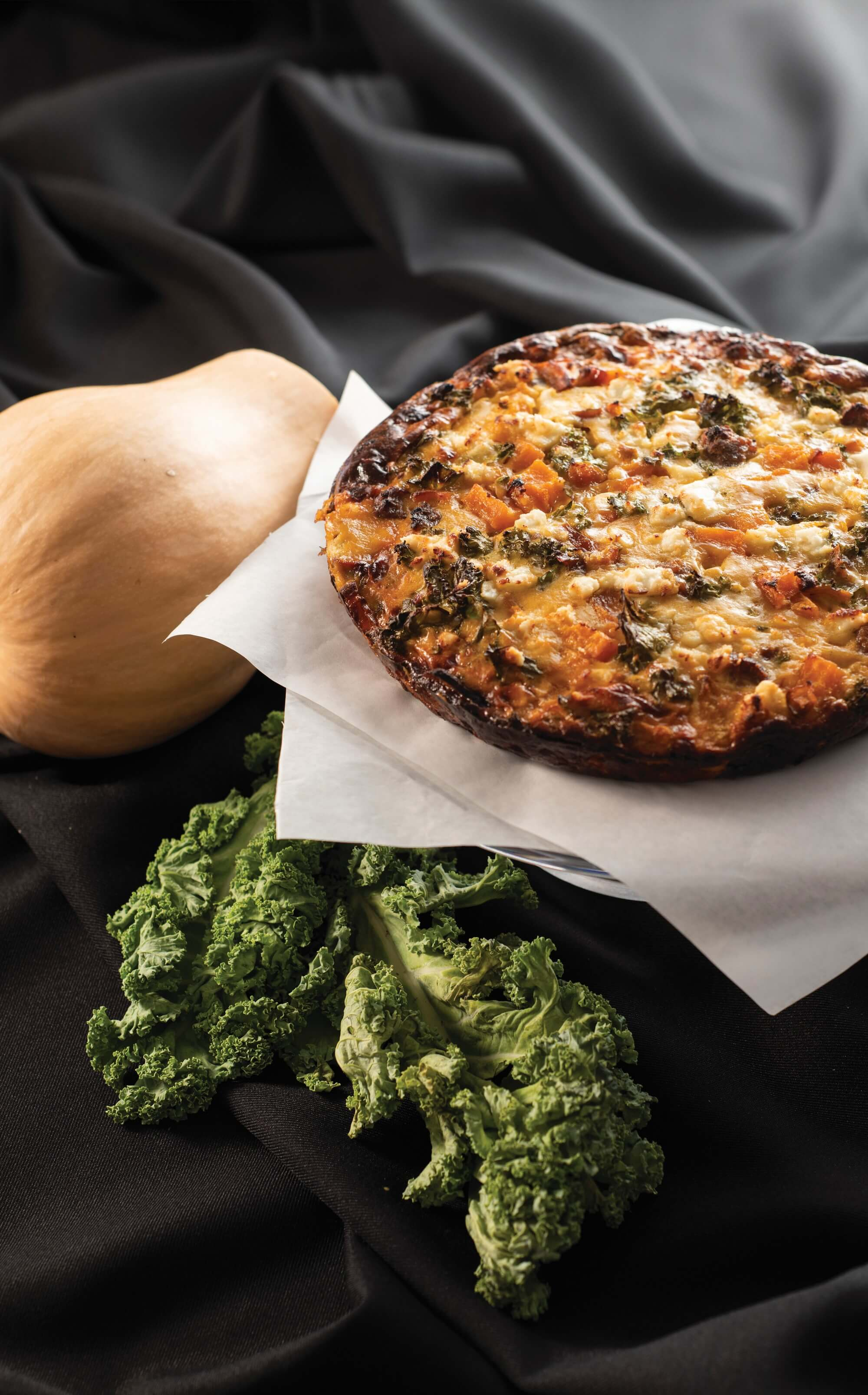 Pumpkin, Spicy Sausage and Kale Frittata