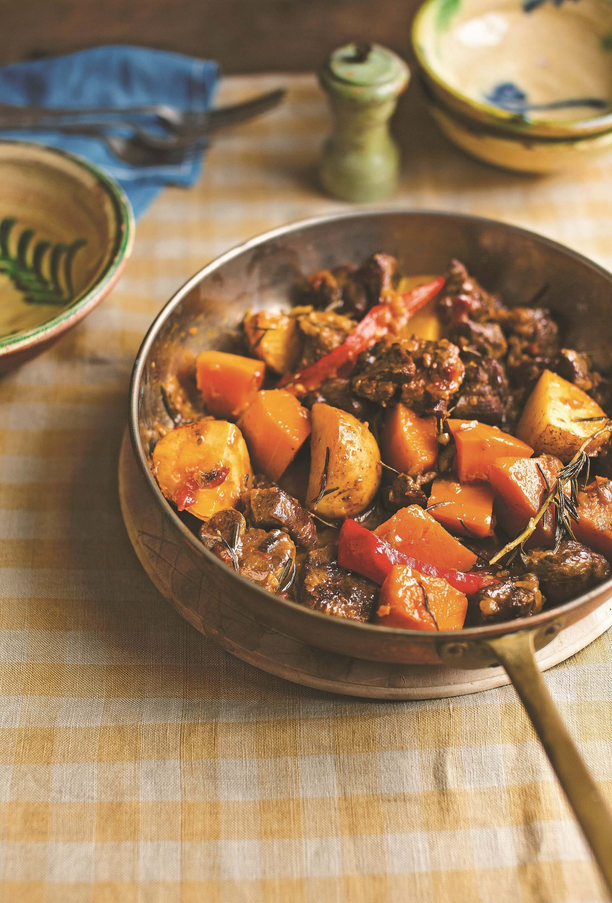Lamb stew with butternut squash and saffron