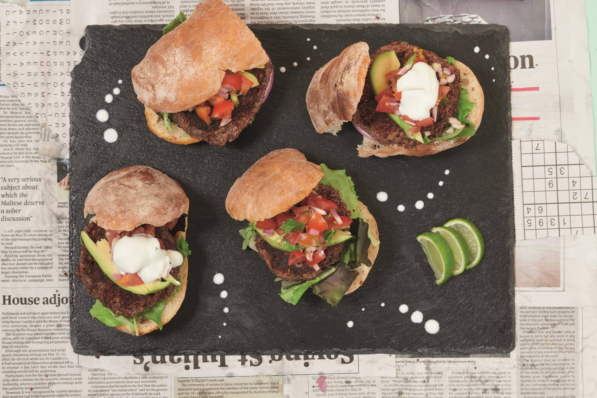 Mexican red kidney bean burgers