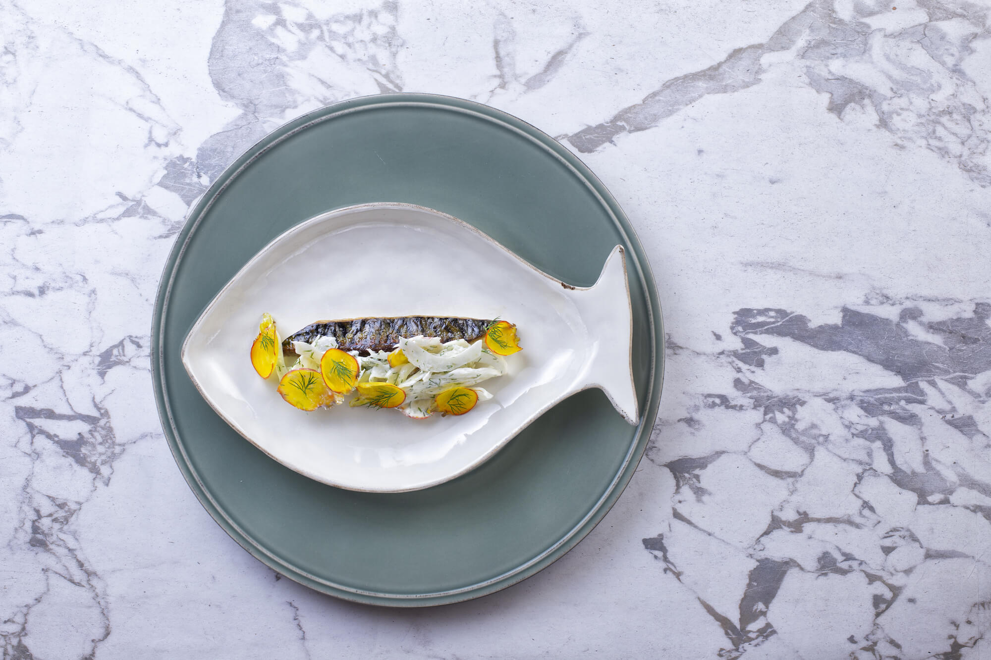 Mackerel, Fennel & Yellow Beets