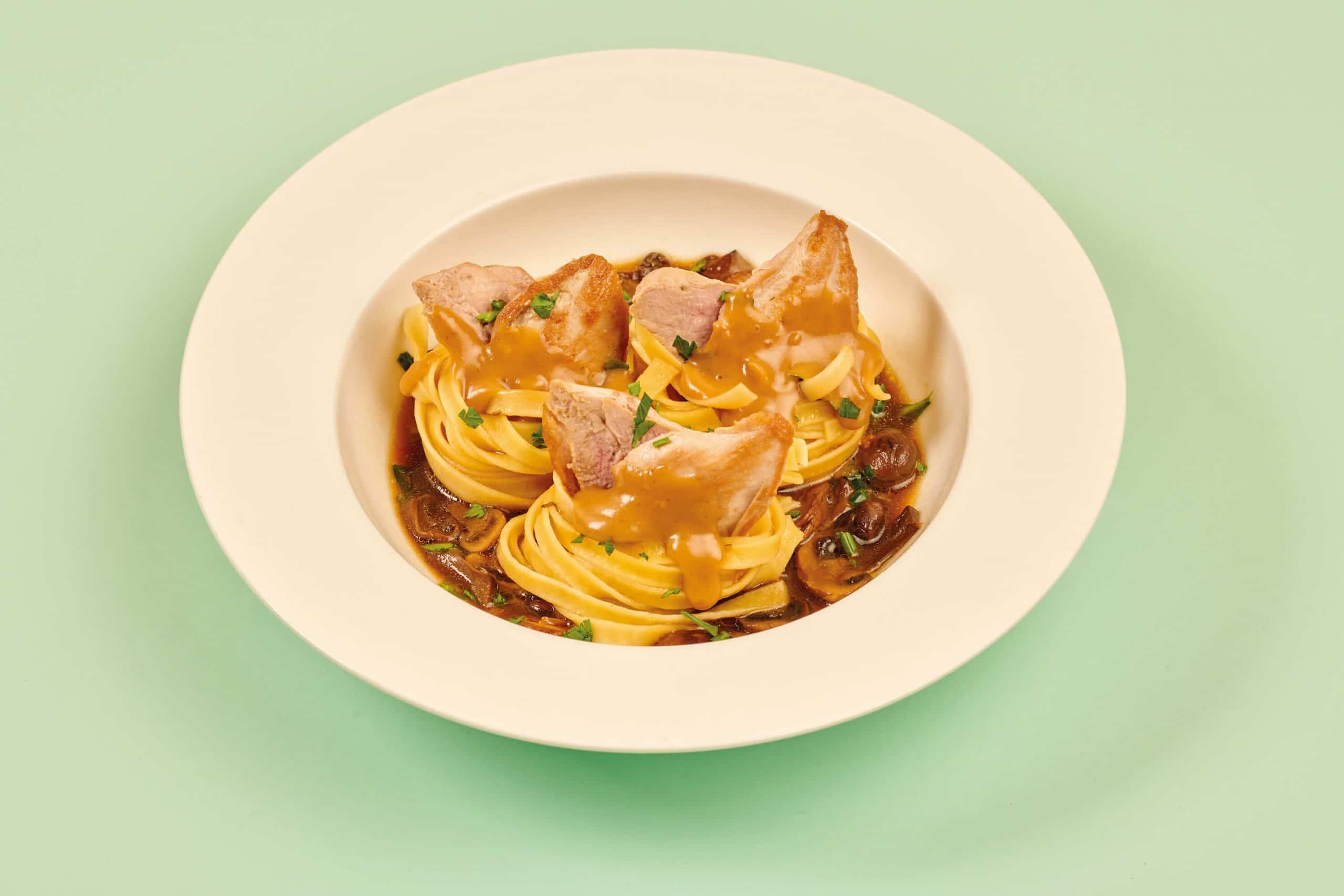 Tagliatelle Nests with Quail Breast