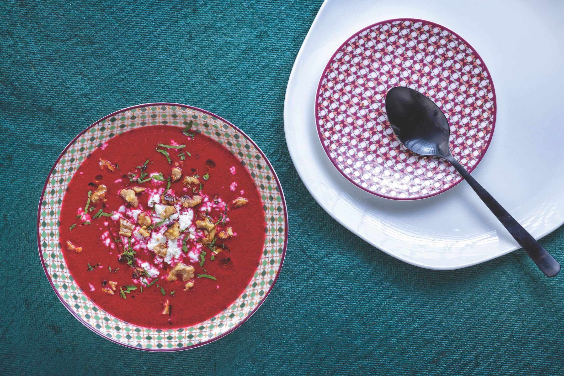 Beetroot Soup with Goat's Cheese