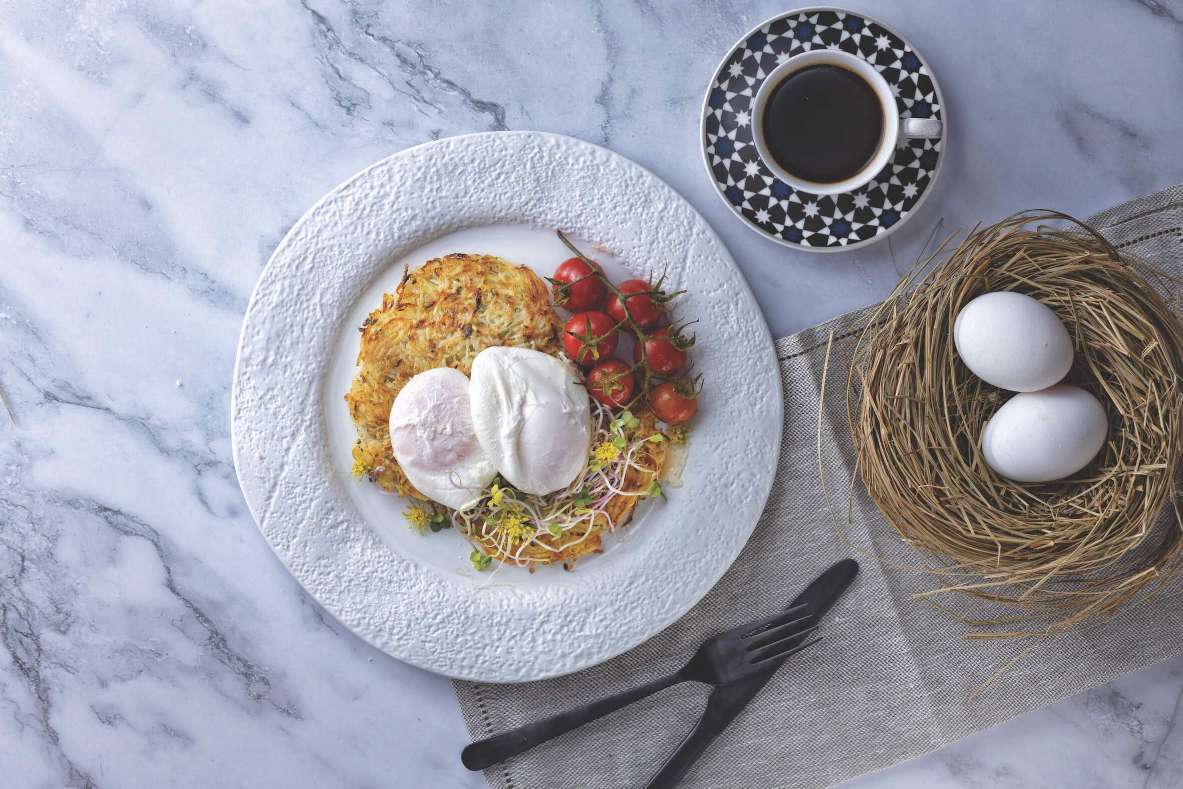 Potato Rosti with a Poached Egg