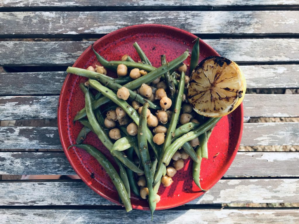 Bean and chickpea salad